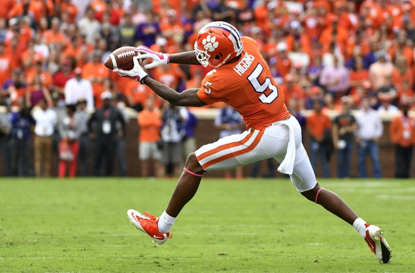 Tee Higgins #5 of the Clemson Tigers (Photo by Mike Comer/Getty Images)