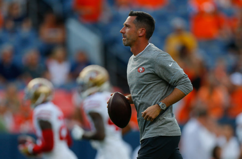 Head coach Kyle Shanahan of the San Francisco 49ers (Photo by Justin Edmonds/Getty Images)