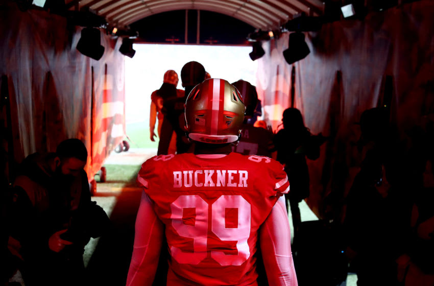 Defensive tackle DeForest Buckner #99 of the San Francisco 49ers (Photo by Ezra Shaw/Getty Images)