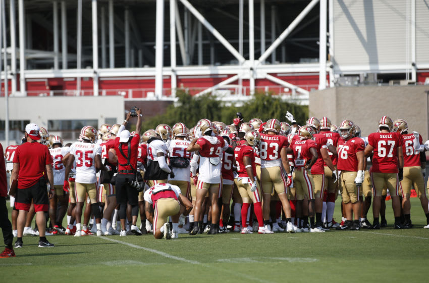 The San Francisco 49ers (Photo by Michael Zagaris/San Francisco 49ers/Getty Images)
