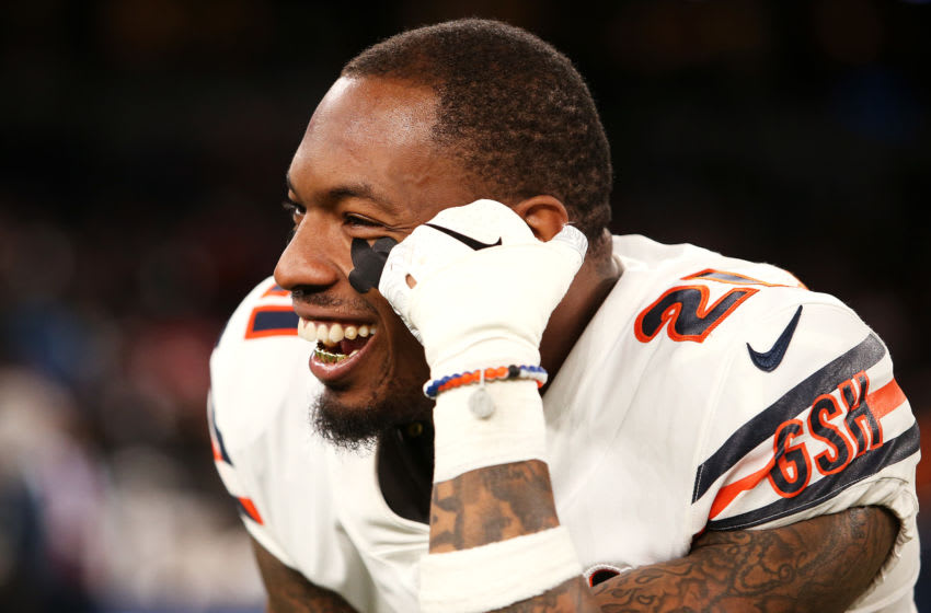 LONDON, ENGLAND - OCTOBER 06: Ha Ha Clinton-Dix #21 of the Chicago Bears looks on following the NFL match between the Chicago Bears and Oakland Raiders at Tottenham Hotspur Stadium on October 06, 2019 in London, England. (Photo by Jack Thomas/Getty Images)
