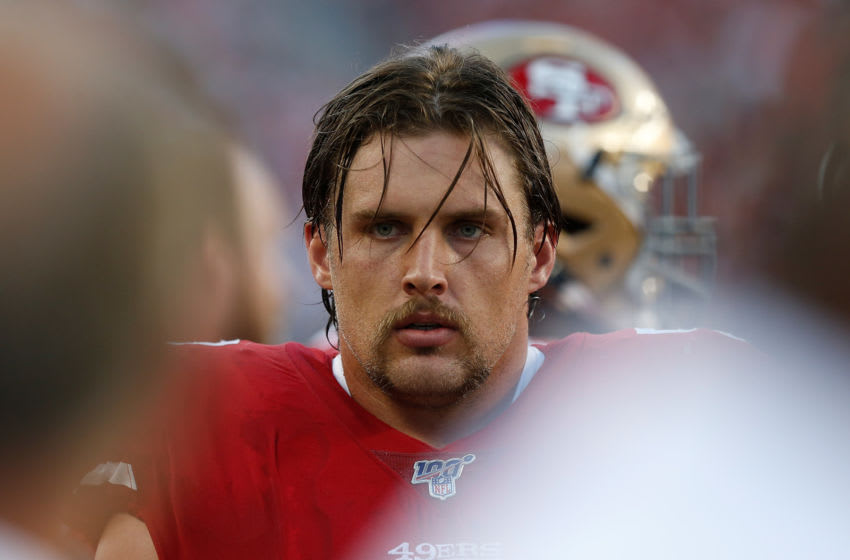 Weston Richburg #58 of the San Francisco 49ers (Photo by Lachlan Cunningham/Getty Images)