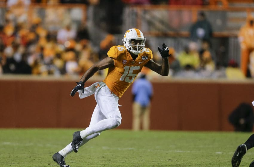 Jauan Jennings #15 of the Tennessee Volunteers (Photo by Silas Walker/Getty Images)