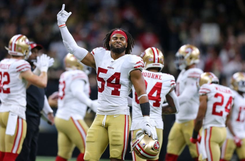 Fred Warner #54 of the San Francisco 49ers (Photo by Jonathan Bachman/Getty Images)