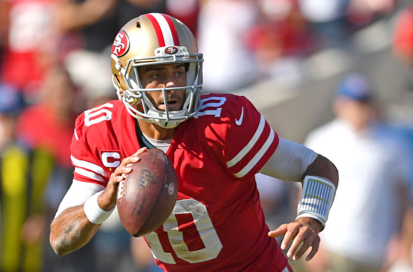 Quarterback Jimmy Garoppolo #10 of the San Francisco 49ers (Photo by Jayne Kamin-Oncea/Getty Images)
