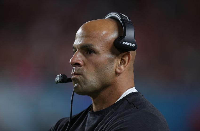 Defensive coordinator Robert Saleh of the San Francisco 49ers (Photo by Tom Pennington/Getty Images)