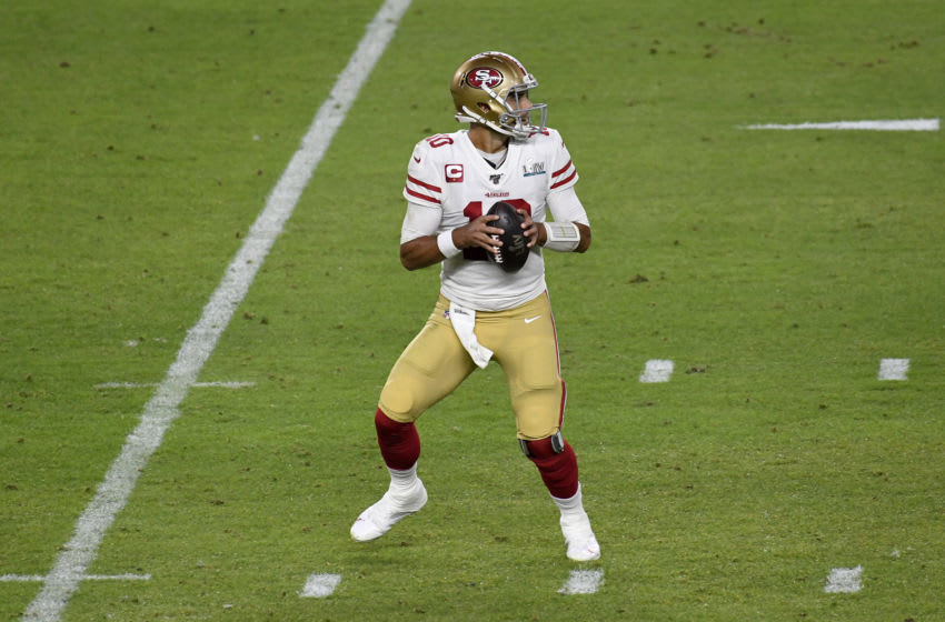 Jimmy Garoppolo #10 of the San Francisco 49ers (Photo by Focus on Sport/Getty Images)