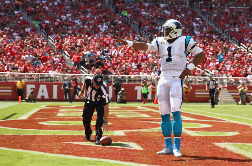 Cam Newton #1 of the Carolina Panthers (Photo by Ezra Shaw/Getty Images)
