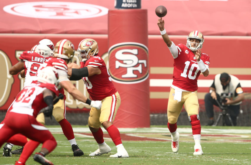 Jimmy Garoppolo #10 of the San Francisco 49ers (Photo by Ezra Shaw/Getty Images)