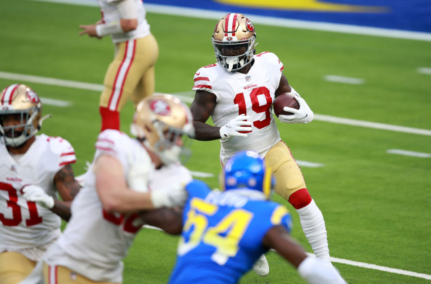 Deebo Samuel #19 of the San Francisco 49ers (Photo by Joe Scarnici/Getty Images)