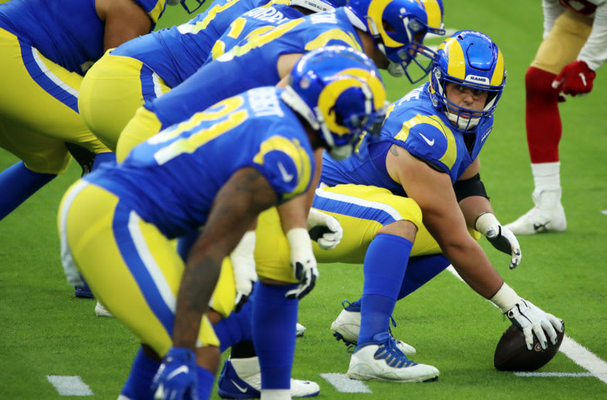 Austin Blythe #66 of the Los Angeles Rams (Photo by Katelyn Mulcahy/Getty Images)
