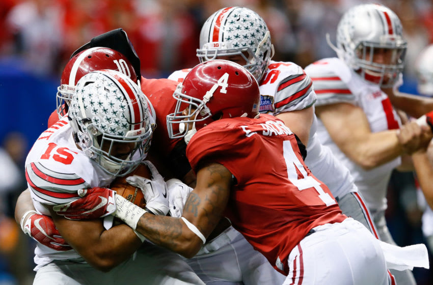 The Ohio State Buckeyes against the Alabama Crimson Tide (Photo by Kevin C. Cox/Getty Images)