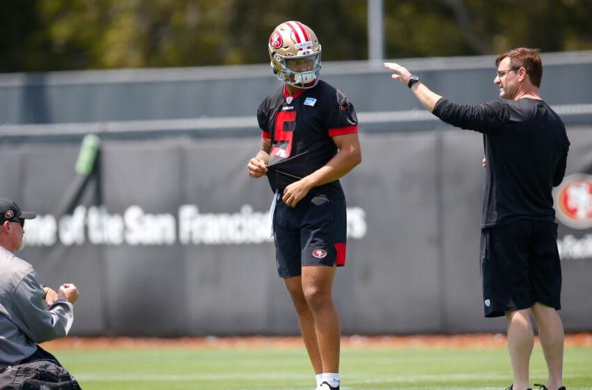 San Francisco 49ers, Trey Lance #5 (Photo by Michael Zagaris/San Francisco 49ers/Getty Images)