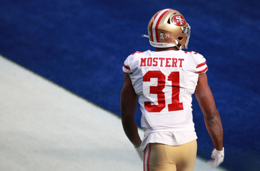 Raheem Mostert #31 of the San Francisco 49ers (Photo by Joe Scarnici/Getty Images)