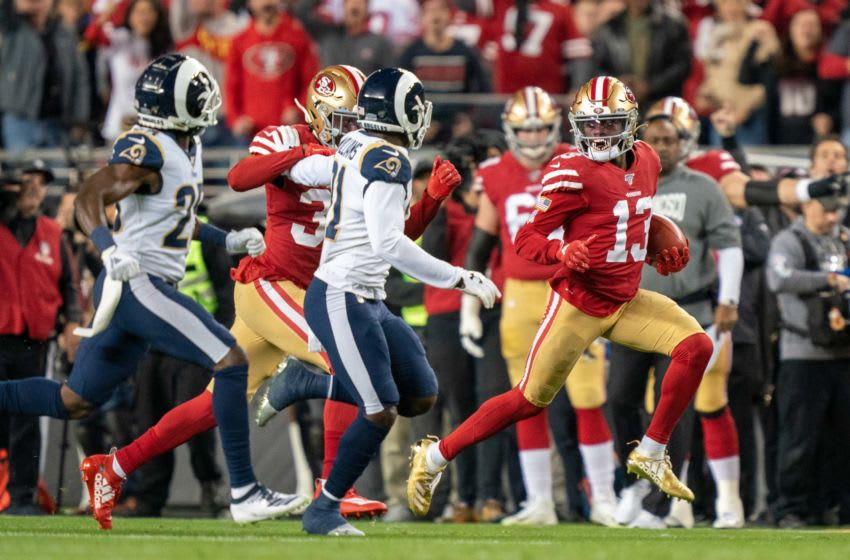 San Francisco 49ers wide receiver Richie James (13) against the Los Angeles Rams. Mandatory Credit: Kyle Terada-USA TODAY Sports