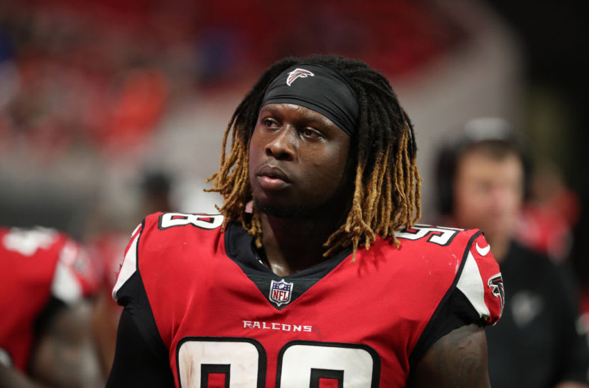 Atlanta Falcons defensive end Takkarist McKinley (98) Mandatory Credit: Jason Getz-USA TODAY Sports