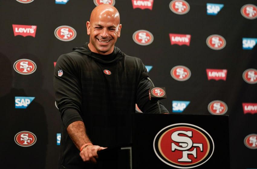 San Francisco 49ers defensive coordinator Robert Saleh Mandatory Credit: Stan Szeto-USA TODAY Sports