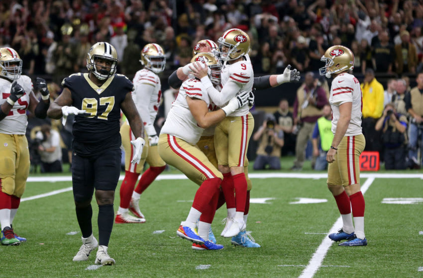 San Francisco 49ers kicker Robbie Gould (9) Mandatory Credit: Chuck Cook-USA TODAY Sports