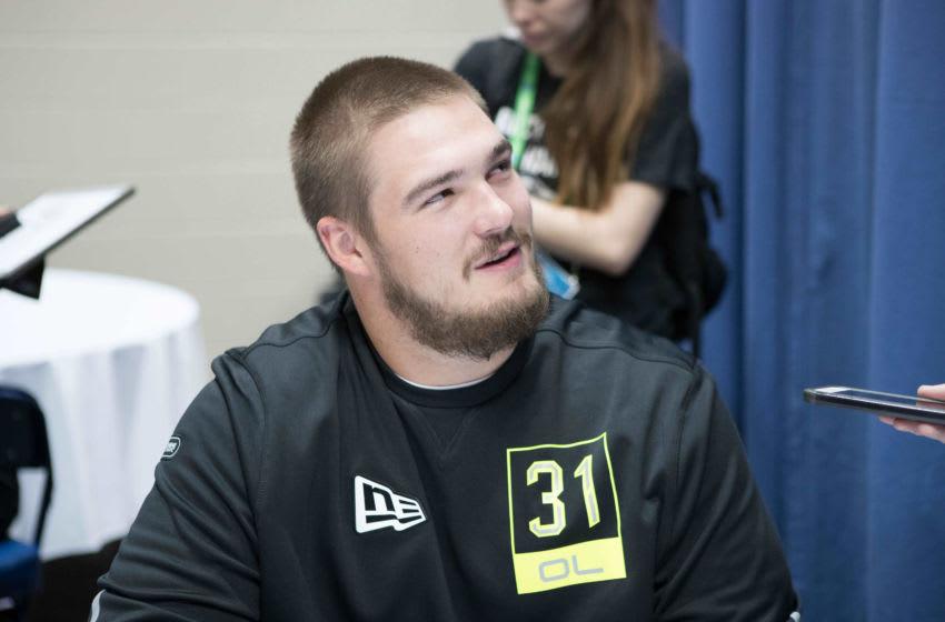 West Virginia offensive lineman Colton McKivitz (OL31) Mandatory Credit: Trevor Ruszkowski-USA TODAY Sports