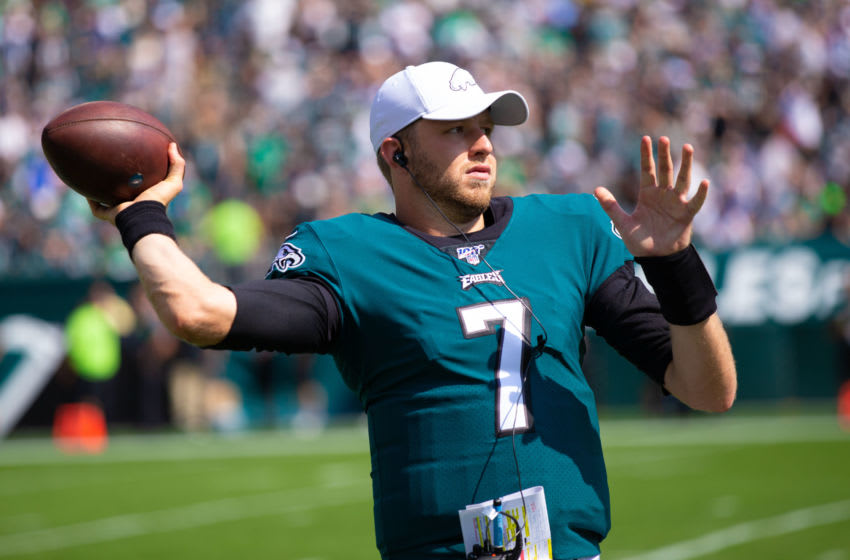 Philadelphia Eagles quarterback Nate Sudfeld (7) Mandatory Credit: Bill Streicher-USA TODAY Sports