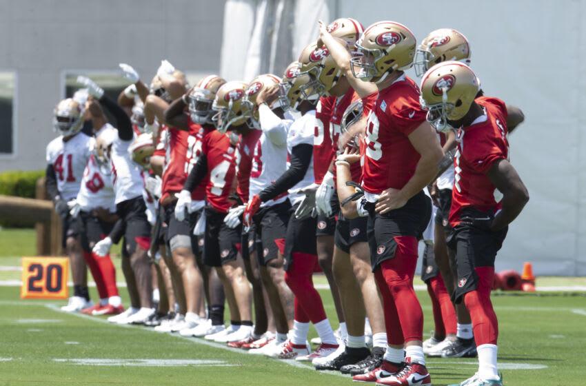 San Francisco 49ers players Mandatory Credit: D. Ross Cameron-USA TODAY Sports