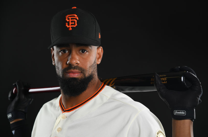 SCOTTSDALE, AZ - FEBRUARY 21: Henry Ramos #70 of the San Francisco Giants poses during the Giants Photo Day on February 21, 2019 in Scottsdale, Arizona. (Photo by Jamie Schwaberow/Getty Images)