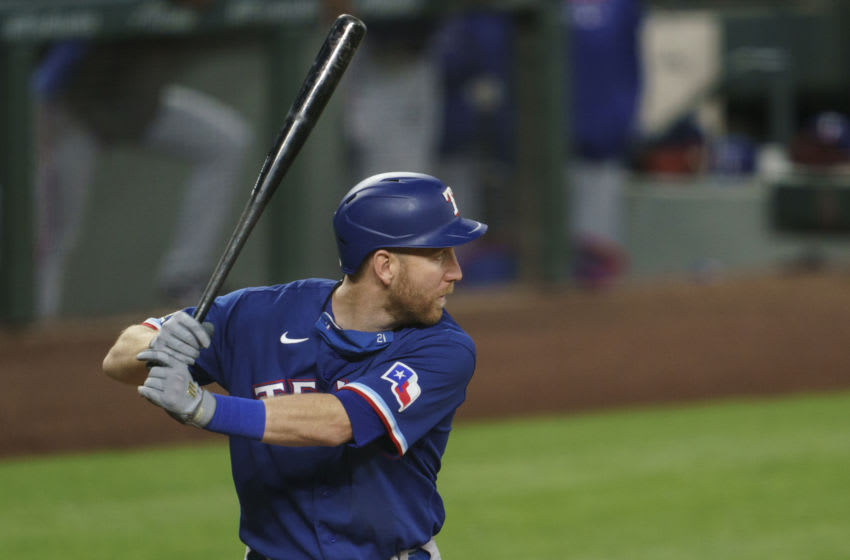 Texas Rangers veterans Todd Frazier, Robinson Chirinos were traded to the New York Mets (Photo by Stephen Brashear/Getty Images)