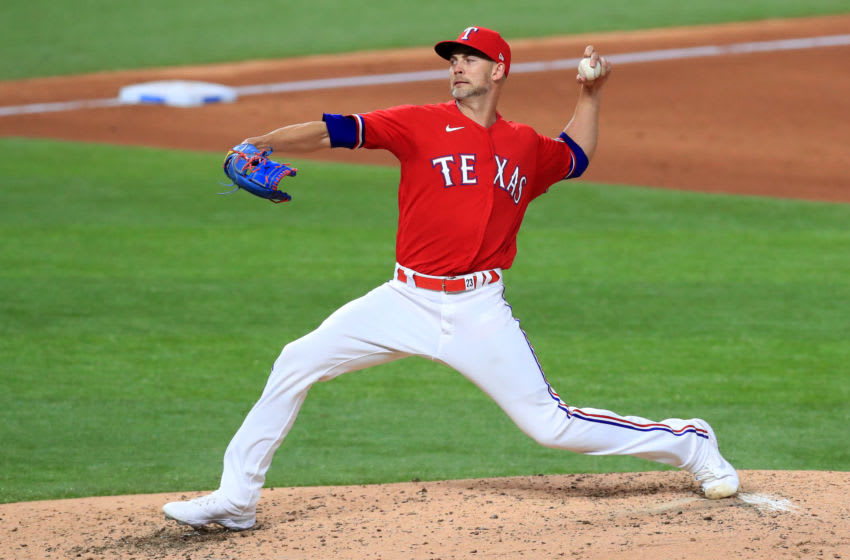 The Texas Rangers reportedly landed Marcus Smith and Dustin Harris in a trade sending Mike Minor to the Oakland A's(Photo by Tom Pennington/Getty Images)