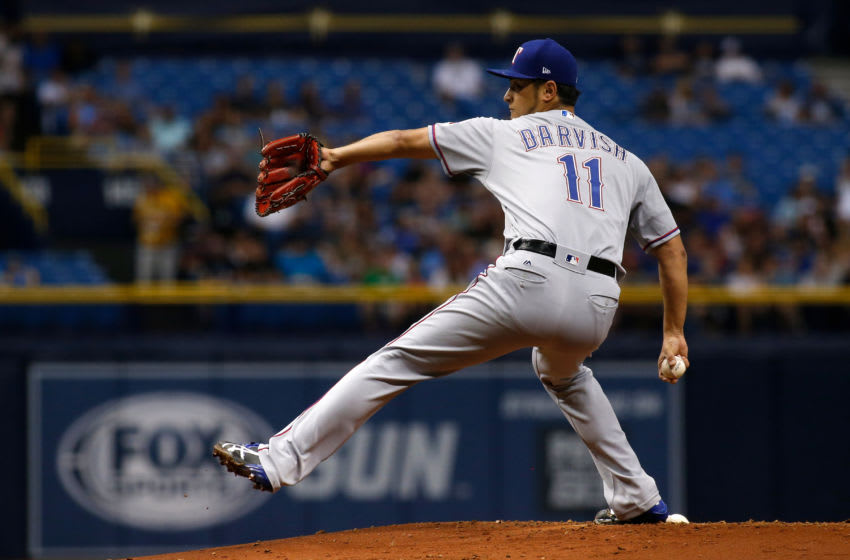 ST. PETERSBURG, FL - JULY 21: Yu Darvish (Photo by Brian Blanco/Getty Images)