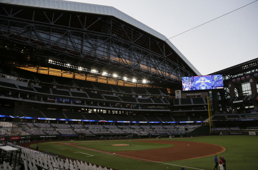 Sep 25, 2020; Arlington, Texas, USA; A general view of the stadium before the game between the Houston Astros and the Texas Rangers at Globe Life Field. Mandatory Credit: Tim Heitman-USA TODAY Sports