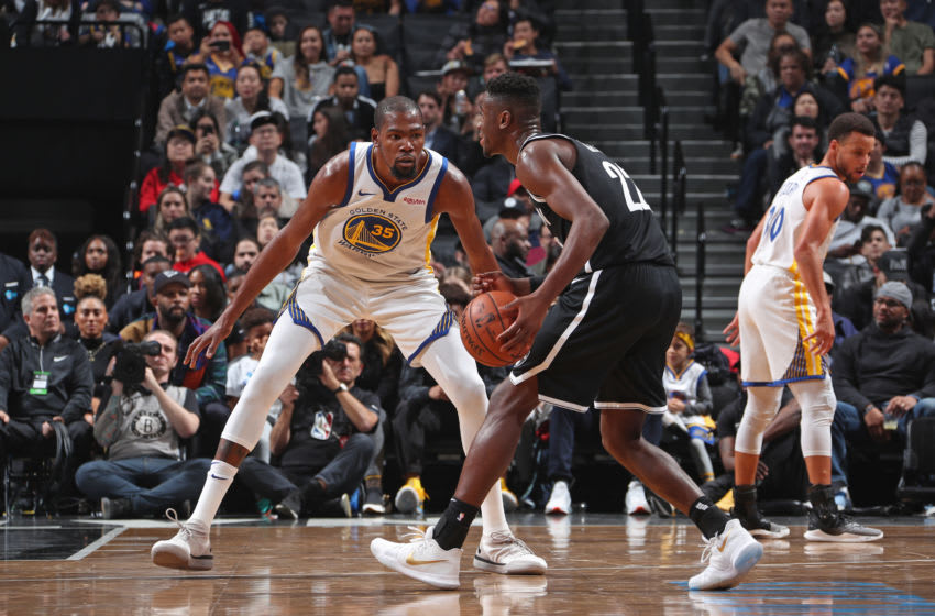 Brooklyn Nets Kevin Durant. Mandatory Copyright Notice: Copyright 2018 NBAE (Photo by Nathaniel S. Butler/NBAE via Getty Images)