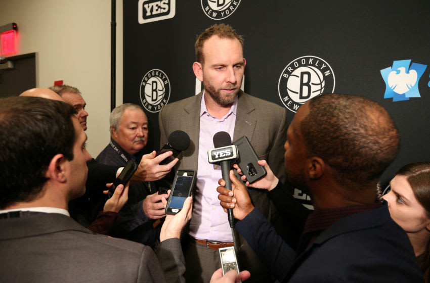 Brooklyn Nets Sean Marks. Mandatory Copyright Notice: Copyright 2018 NBAE (Photo by Ned Dishman/NBAE via Getty Images)