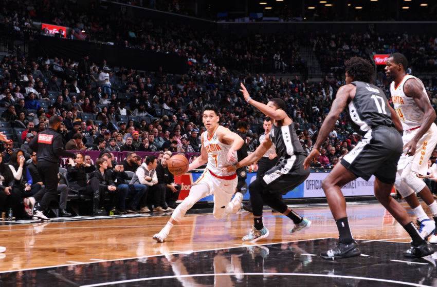 Brooklyn Nets Jeremy Lin. Mandatory Copyright Notice: Copyright 2018 NBAE (Photo by Matteo Marchi/NBAE via Getty Images)
