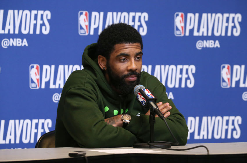 Kyrie Irving Boston Celtics (Photo by Gary Dineen/NBAE via Getty Images)