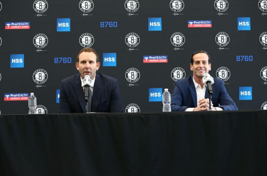 Brooklyn Nets Sean Marks Kenny Atkinson. Mandatory Copyright Notice: Copyright 2016 NBAE (Photo by Nathaniel S. Butler/NBAE via Getty Images)