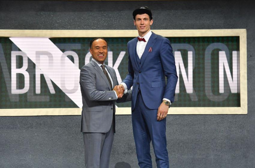 Brooklyn Nets Rodions Kurucs. Mandatory Copyright Notice: Copyright 2018 NBAE (Photo by Jesse D. Garrabrant/NBAE via Getty Images)