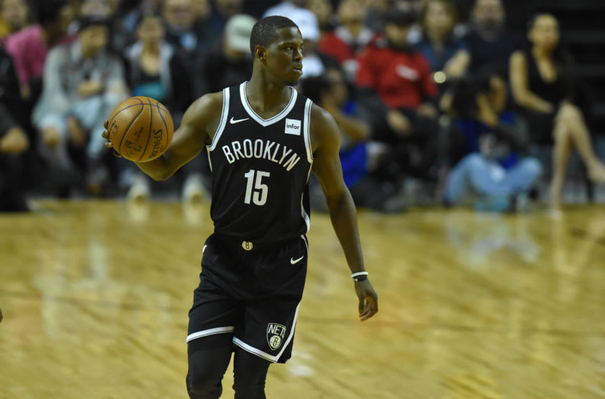 the player Isaiah Whitehead of the team Brooklyn Nets is seen in action during the match of NBA between of Miami Heat and Brooklyn Nets on December 09, 2017 in México City, Mexico (Photo by Carlos Tischler/NurPhoto via Getty Images)