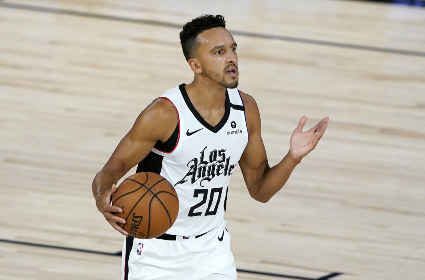 LAKE BUENA VISTA, FLORIDA - AUGUST 06: Landry Shamet #20 of the Los Angeles Clippers (Photo by Ashley Landis-Pool/Getty Images)