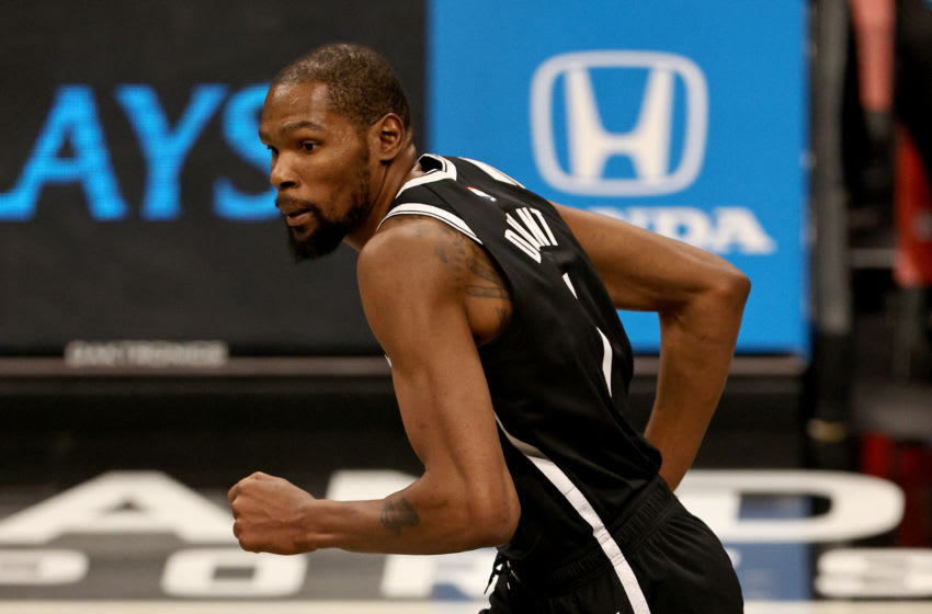 NEW YORK, NEW YORK - JANUARY 23: Kevin Durant #7 of the Brooklyn Nets (Photo by Elsa/Getty Images)