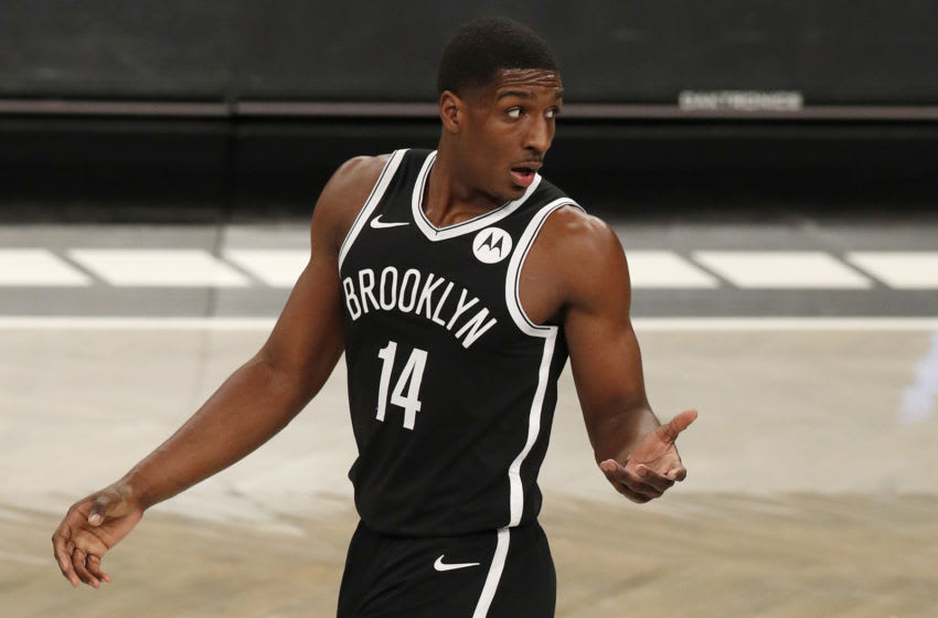 NEW YORK, NEW YORK - JANUARY 05: (NEW YORK DAILIES OUT) Reggie Perry #14 of the Brooklyn Nets (Photo by Jim McIsaac/Getty Images)