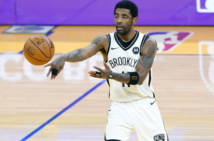 SAN FRANCISCO, CALIFORNIA - FEBRUARY 13: Kyrie Irving #11 of the Brooklyn Nets (Photo by Thearon W. Henderson/Getty Images)