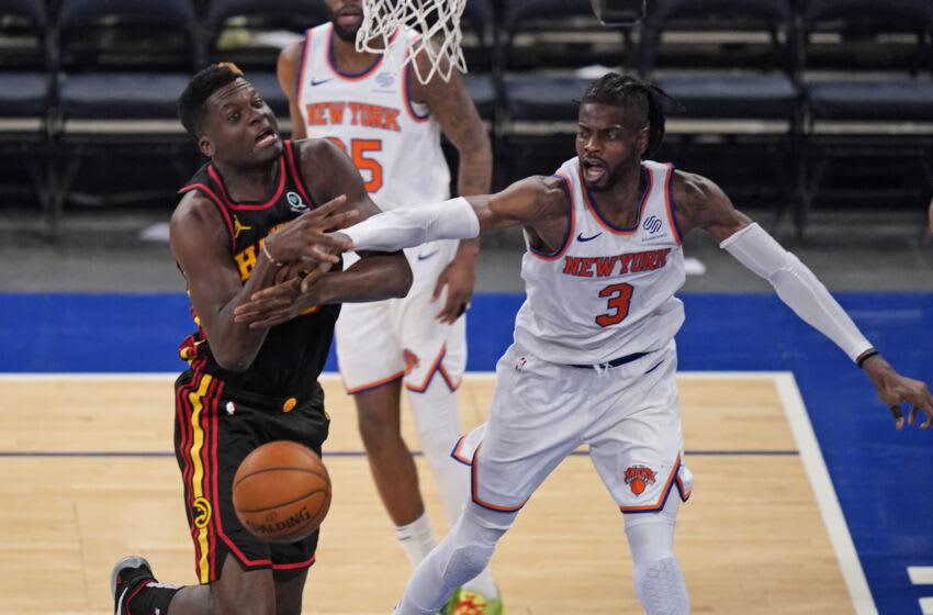 NEW YORK, NY - MAY 23: New York Knicks' Nerlens Noel (Photo by Seth Wenig - Pool/Getty Images)