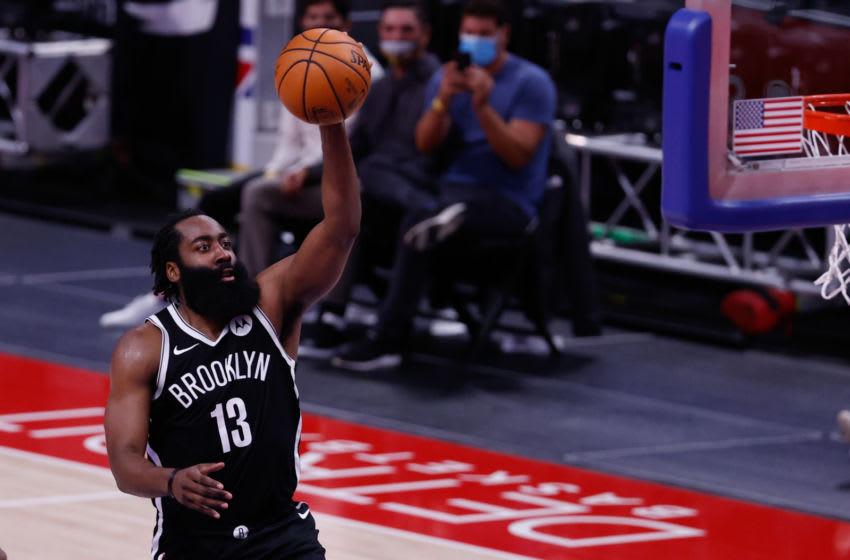 Brooklyn Nets guard James Harden. Mandatory Credit: Rick Osentoski-USA TODAY Sports