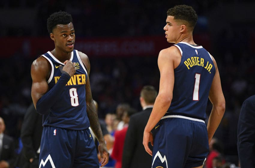 Jarred Vanderbilt and Michael Porter Jr in preseason for the Denver Nuggets (Photo by Brian Rothmuller/Icon Sportswire via Getty Images)