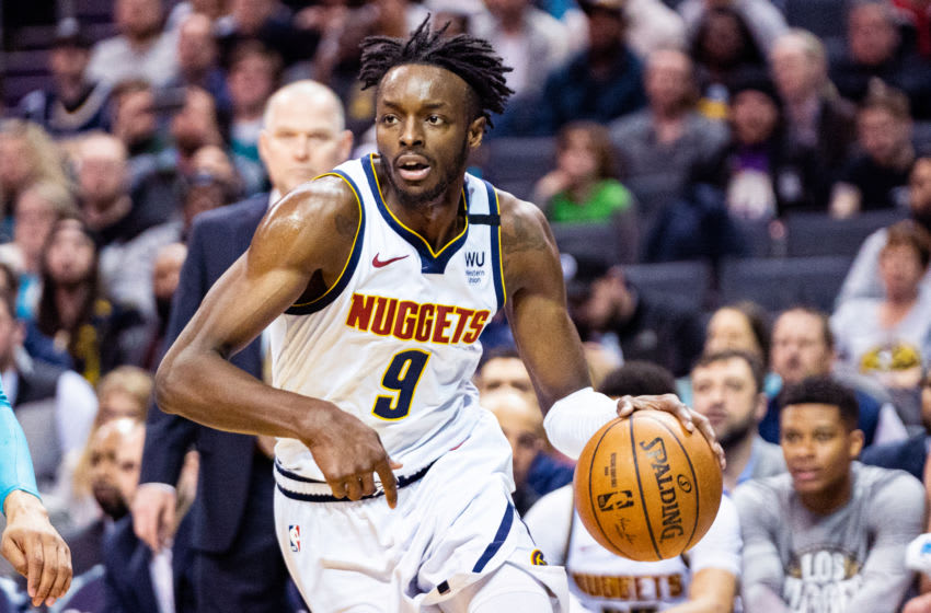 CHARLOTTE, NORTH CAROLINA - MARCH 05: Jerami Grant #9 of the Denver Nuggets during the second quarter during their game against the Charlotte Hornets at Spectrum Center on March 05, 2020 in Charlotte, North Carolina. NOTE TO USER: User expressly acknowledges and agrees that, by downloading and/or using this photograph, user is consenting to the terms and conditions of the Getty Images License Agreement. (Photo by Jacob Kupferman/Getty Images)
