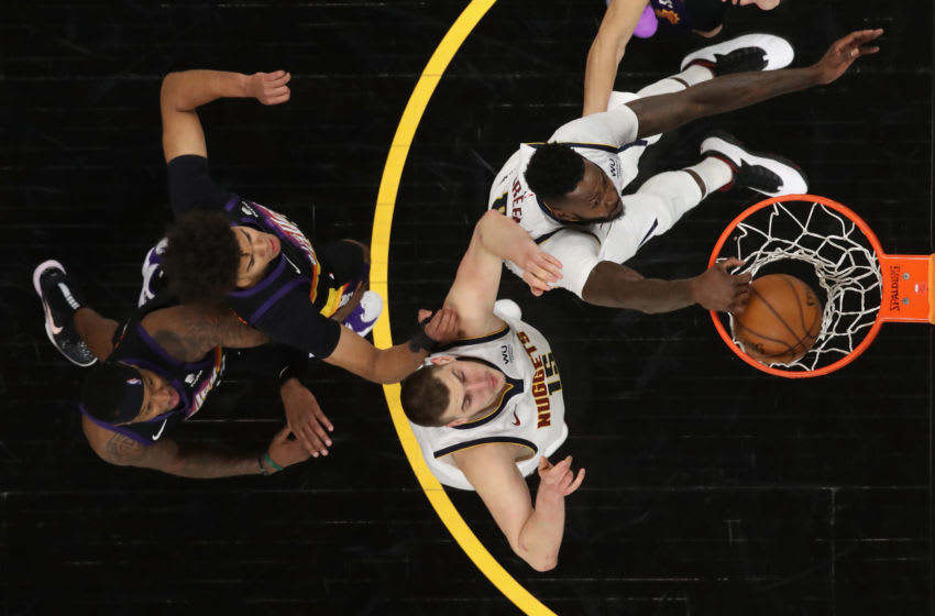 JaMychal Green, Denver Nuggets slam dunks against the Phoenix Suns in Game One of the Western Conference second-round playoff series. (Photo by Christian Petersen/Getty Images)