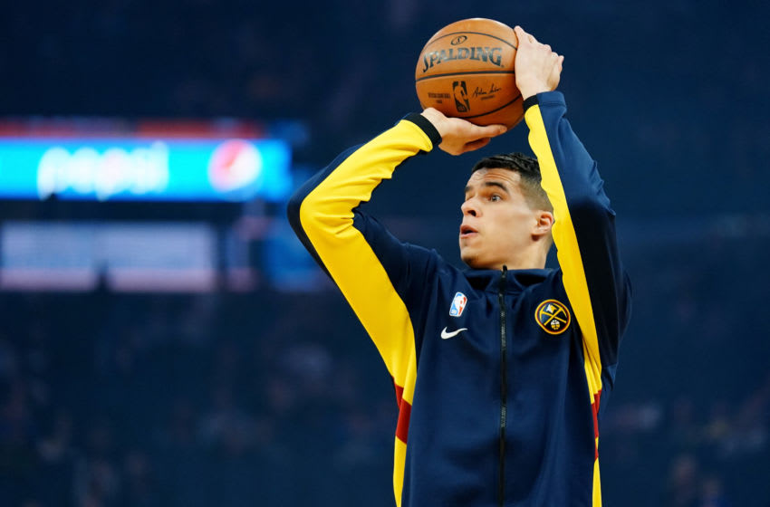 SAN FRANCISCO, CALIFORNIA - JANUARY 16: Michael Porter Jr. #1 of the Denver Nuggets warms up prior to the game against the Golden State Warriors at Chase Center on January 16, 2020 in San Francisco, California. NOTE TO USER: User expressly acknowledges and agrees that, by downloading and/or using this photograph, user is consenting to the terms and conditions of the Getty Images License Agreement. (Photo by Daniel Shirey/Getty Images)