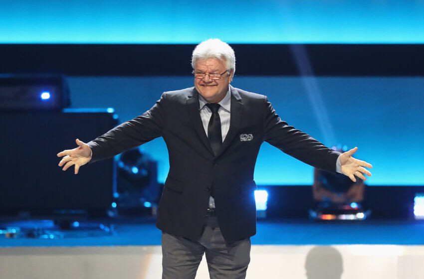 LOS ANGELES, CA - JANUARY 27: Former NHL player Marcel Dionne is introduced during the NHL 100 presented by GEICO Show as part of the 2017 NHL All-Star Weekend at the Microsoft Theater on January 27, 2017 in Los Angeles, California. (Photo by Bruce Bennett/Getty Images)