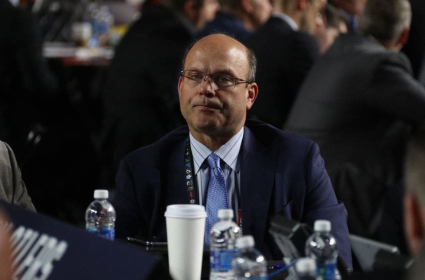 CHICAGO, IL - JUNE 24: General manager Peter Chiarelli of the Edmonton Oilers looks on during the 2017 NHL Draft at United Center on June 24, 2017 in Chicago, Illinois. (Photo by Dave Sandford/NHLI via Getty Images)