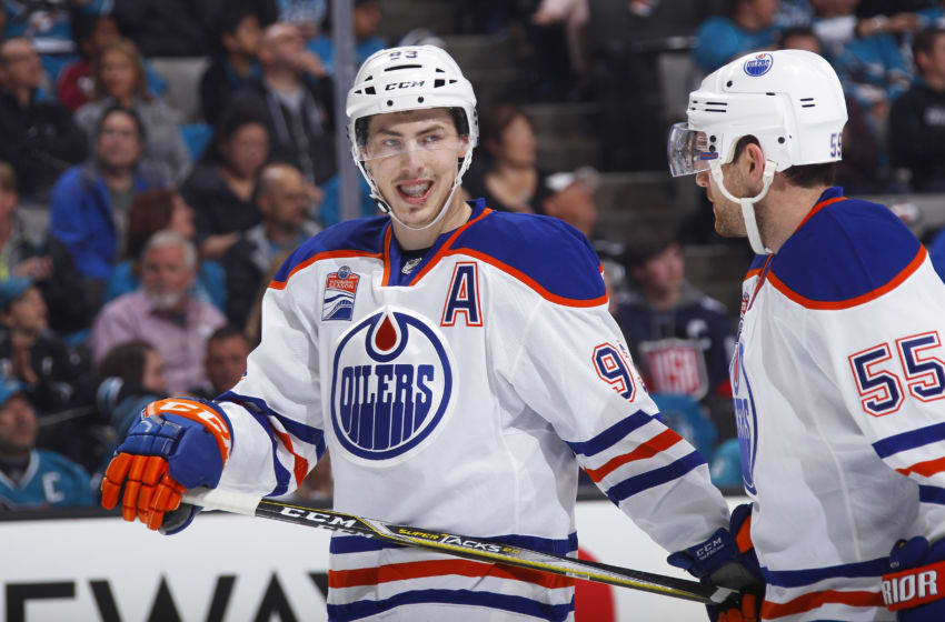 SAN JOSE, CA - APRIL 16: Ryan Nugent-Hopkins. (Photo by Rocky W. Widner/NHL/Getty Images)